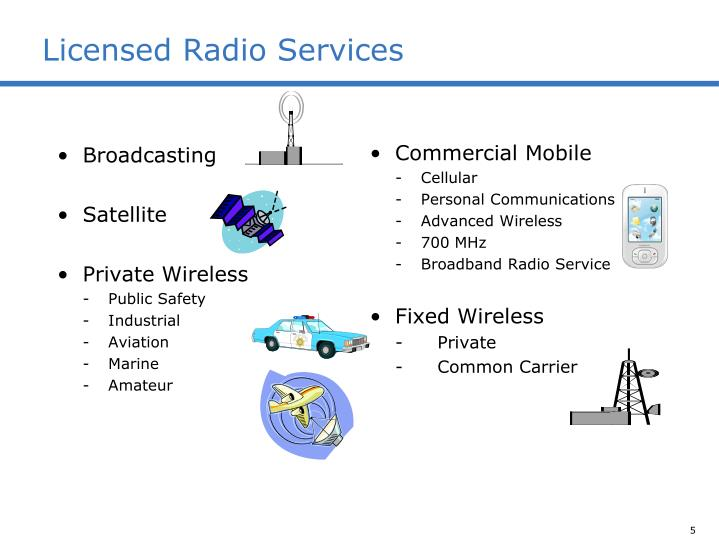 Licensed Radio Services