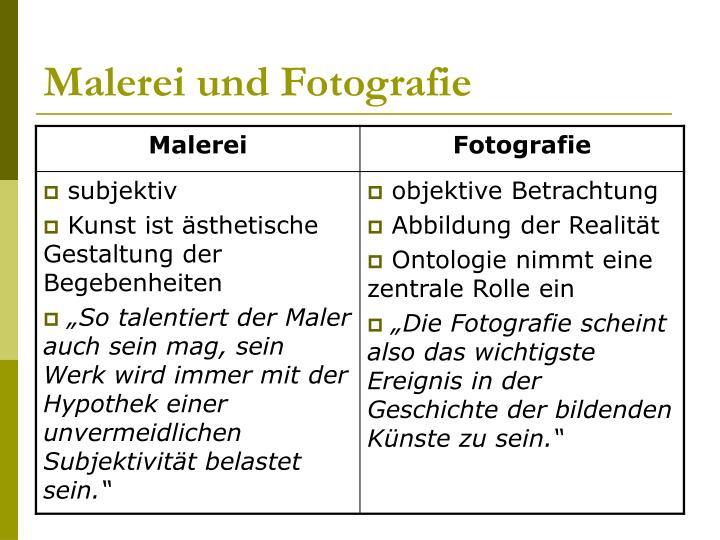 Malerei und Fotografie