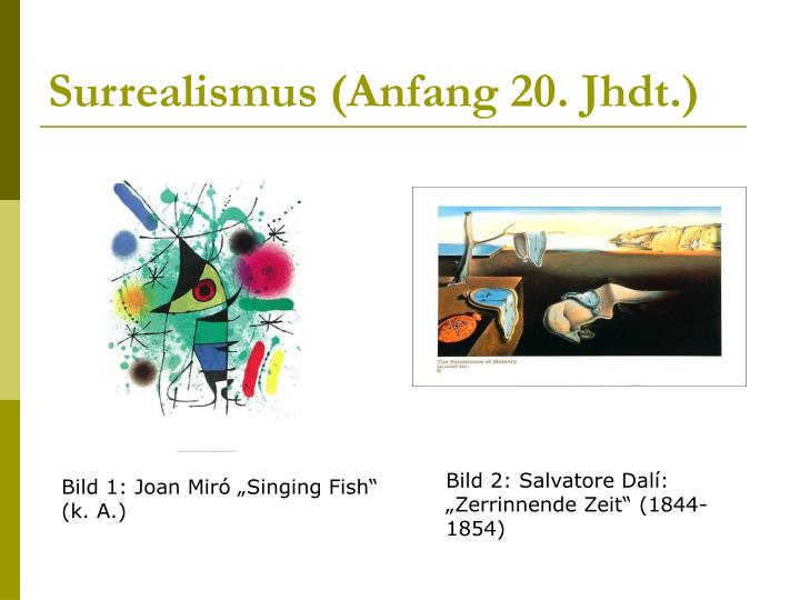 Surrealismus (Anfang 20. Jhdt.)