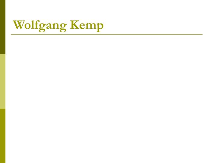 Wolfgang Kemp