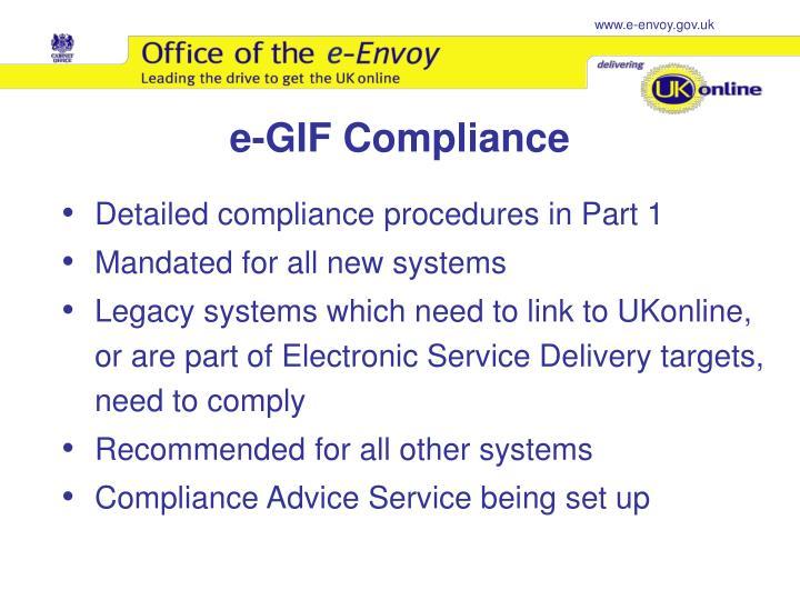 e-GIF Compliance