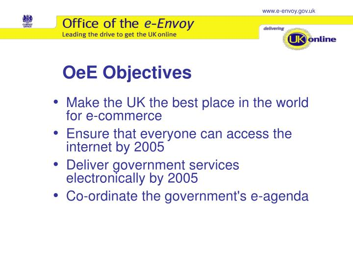 OeE Objectives