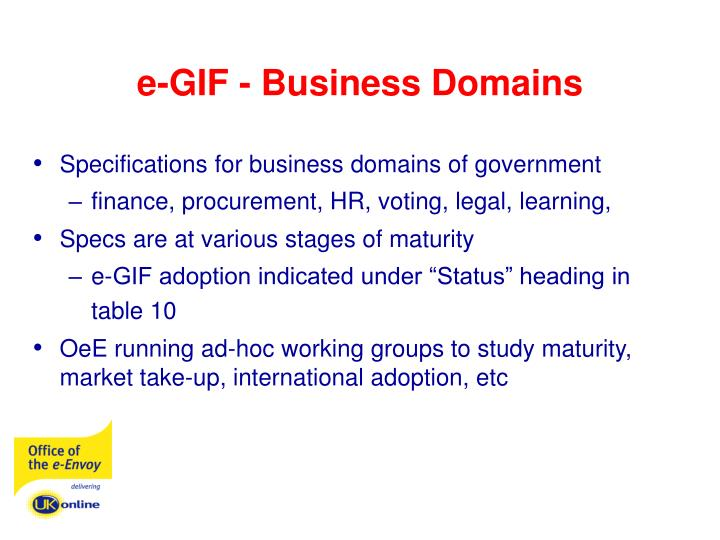 e-GIF - Business Domains