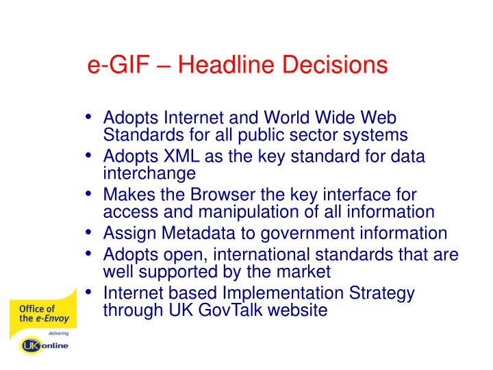 e-GIF – Headline Decisions