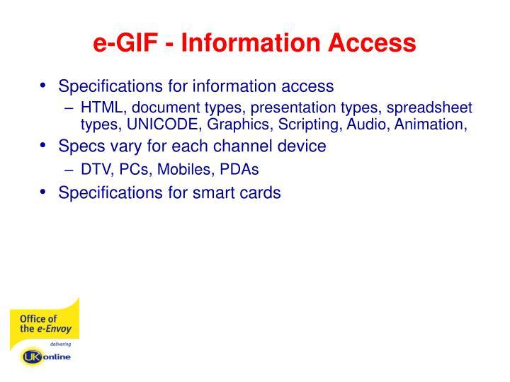 e-GIF - Information Access