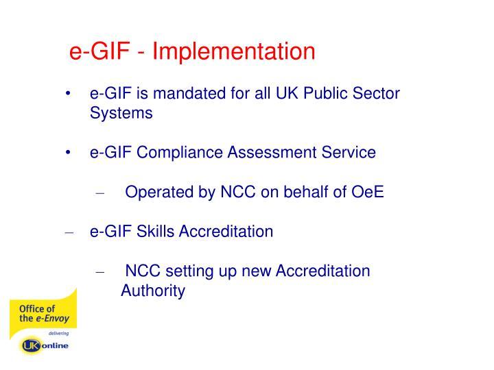 e-GIF - Implementation