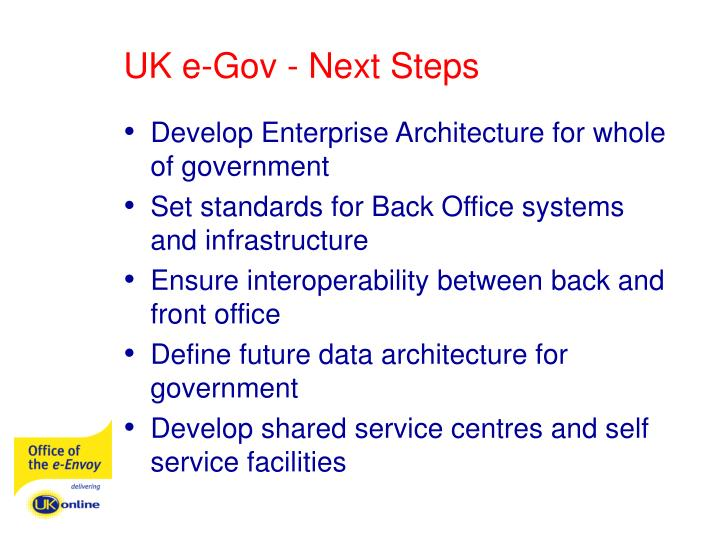UK e-Gov - Next Steps