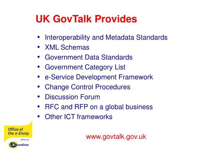 UK GovTalk Provides