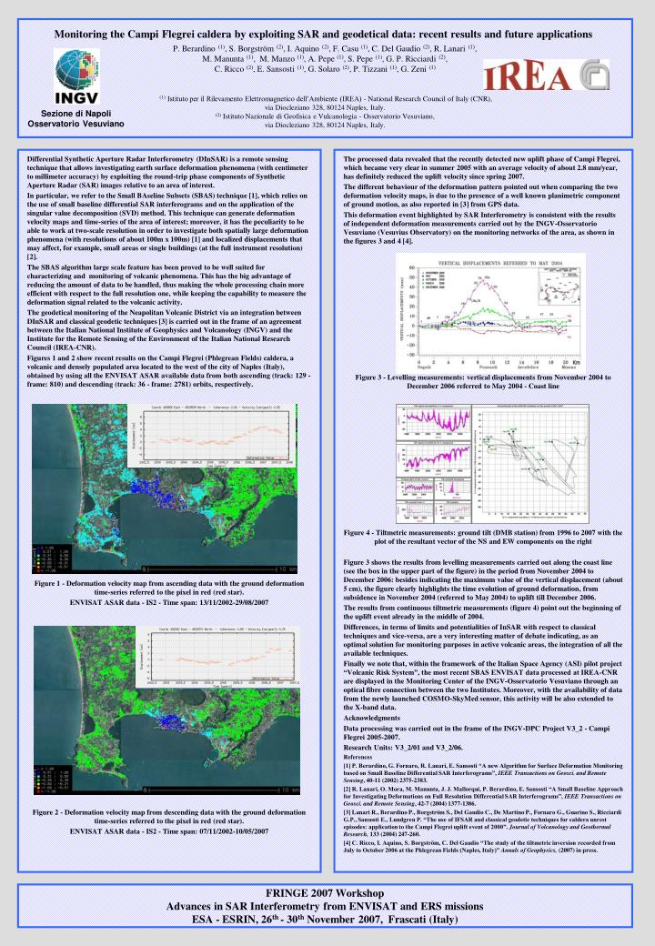 Differential Synthetic Aperture Radar Interferometry (DInSAR) is a remote sensing technique that all...