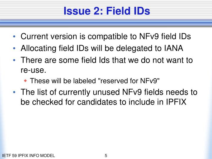 Issue 2: Field IDs