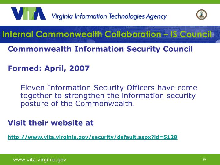 Internal Commonwealth Collaboration – IS Council