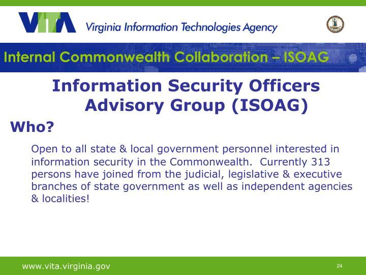 Internal Commonwealth Collaboration – ISOAG