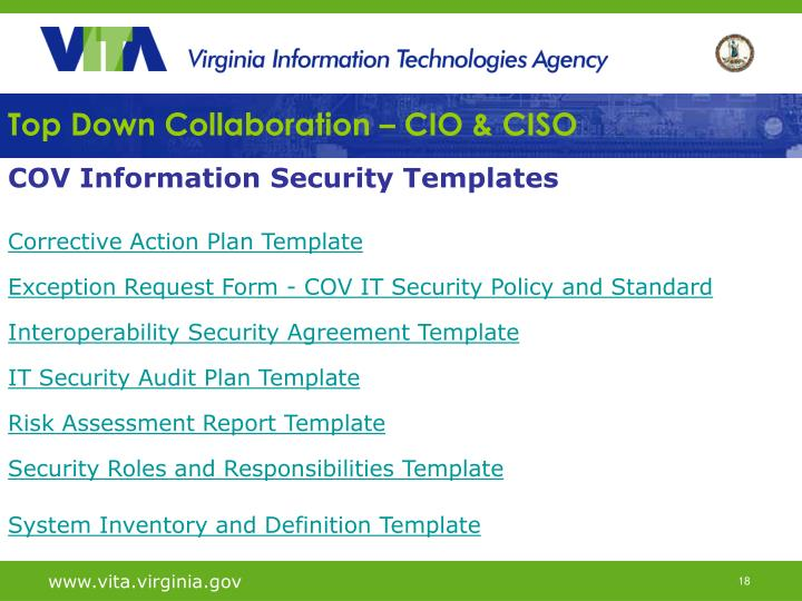 Top Down Collaboration – CIO & CISO