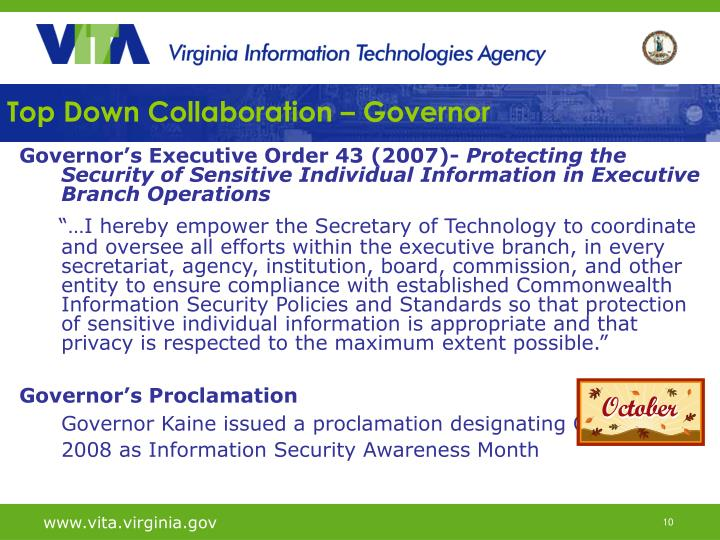 Top Down Collaboration – Governor