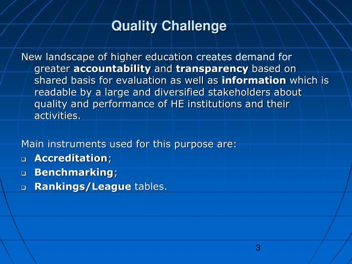 Quality Challenge