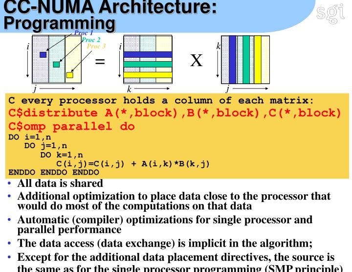 CC-NUMA Architecture: