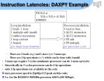 instruction latencies daxpy example