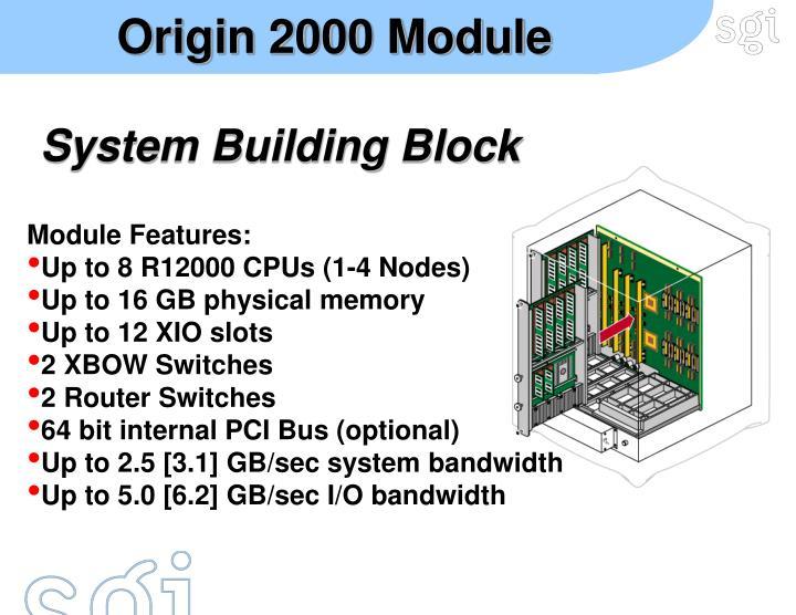 Origin 2000 Module