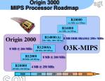 origin 3000 mips processor roadmap