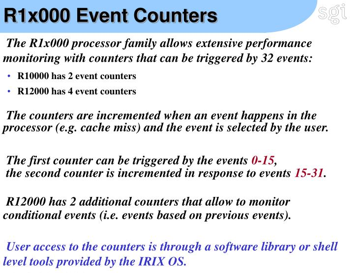 R1x000 Event Counters
