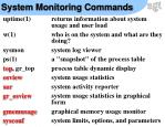 system monitoring commands