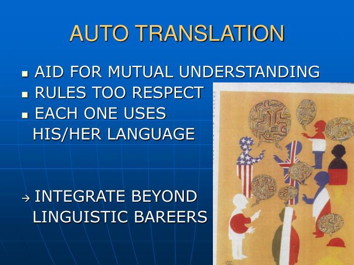 AUTO TRANSLATION