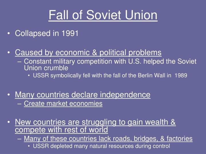 Fall of Soviet Union