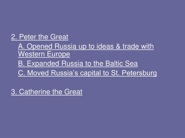 2. Peter the Great