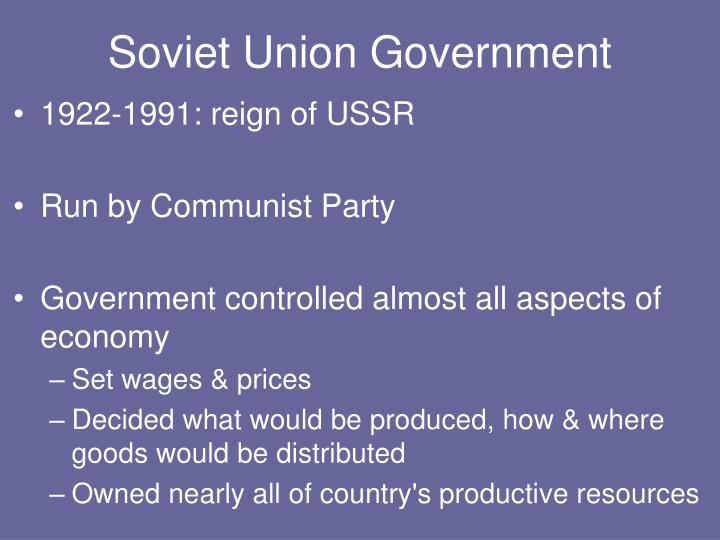 Soviet Union Government