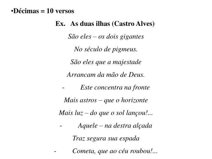 Décimas = 10 versos