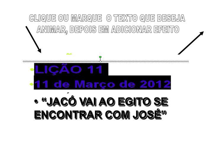 CLIQUE OU MARQUE  O TEXTO QUE DESEJA