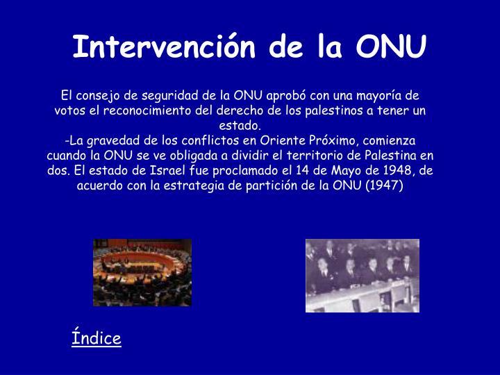 Intervención de la ONU
