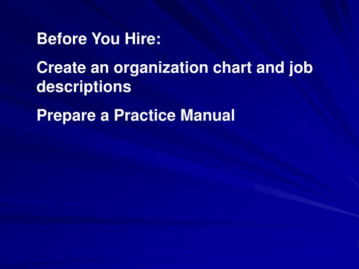 Before You Hire: