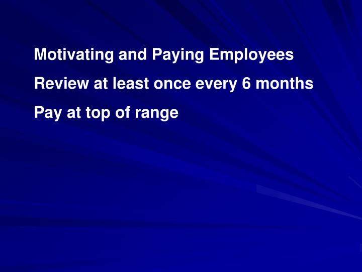 Motivating and Paying Employees