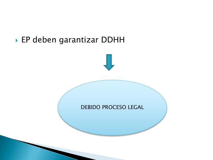 EP deben garantizar DDHH