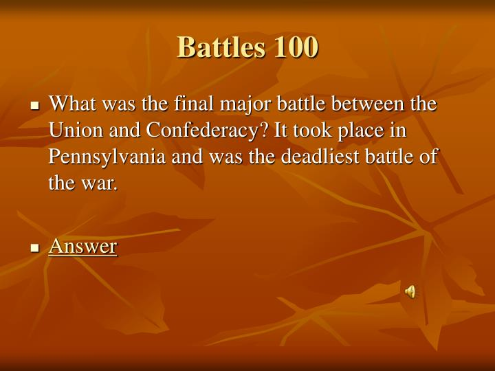 Battles 100