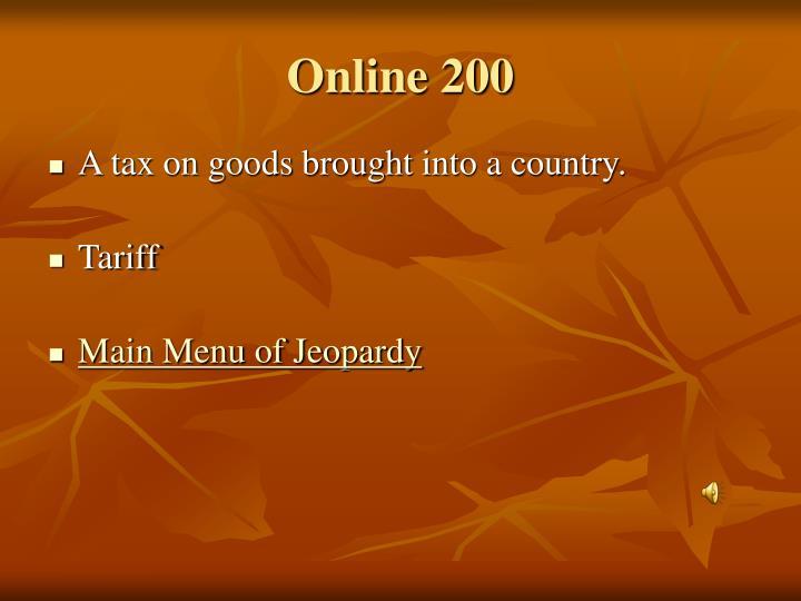 Online 200