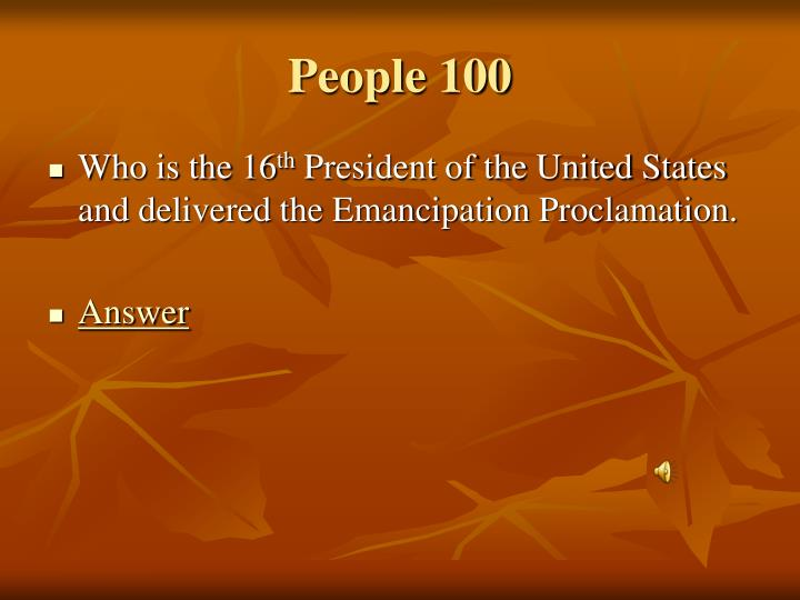 People 100