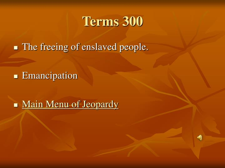 Terms 300