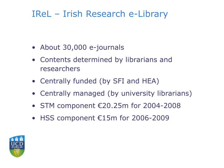 IReL – Irish Research e-Library