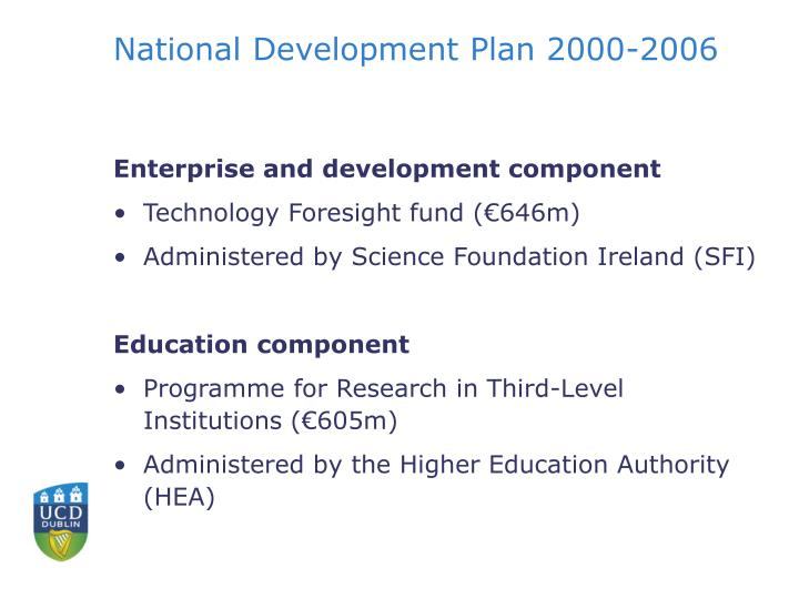National Development Plan 2000-2006