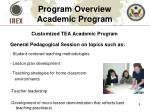 program overview academic program