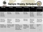sample weekly schedule