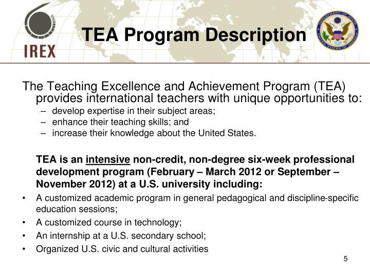 TEA Program Description