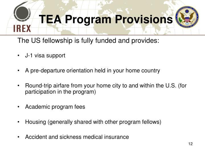 TEA Program Provisions
