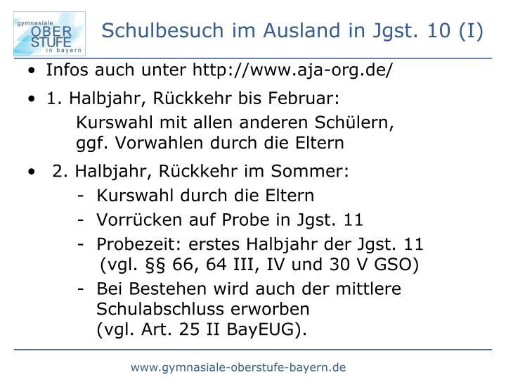 Infos auch unter http://www.aja-org.de/