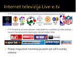 internet televi zija live e tv