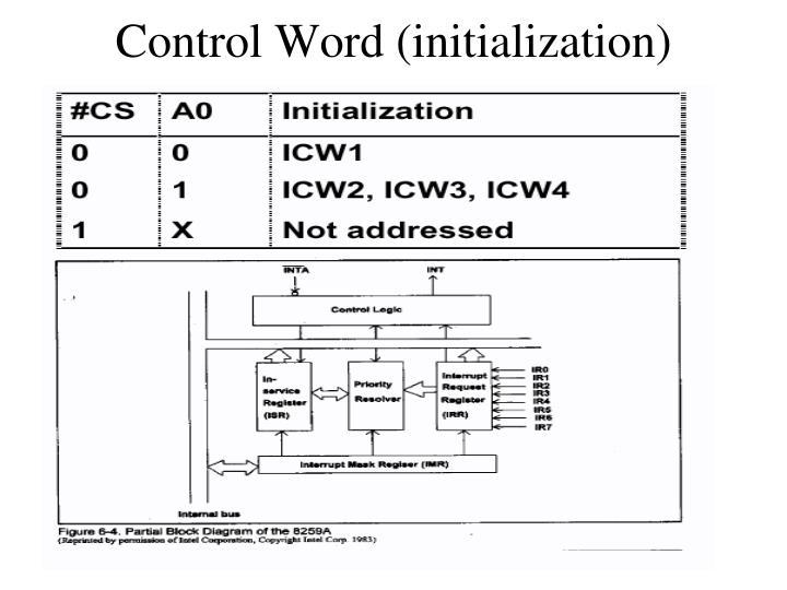 Control Word (initialization)