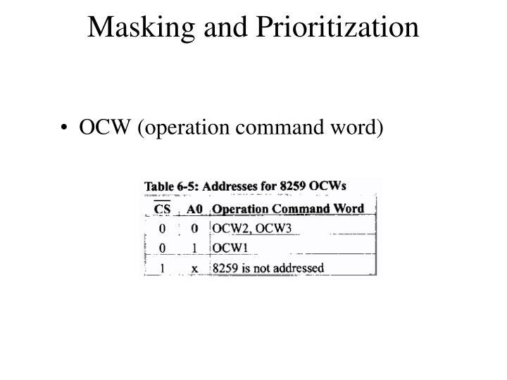 Masking and Prioritization