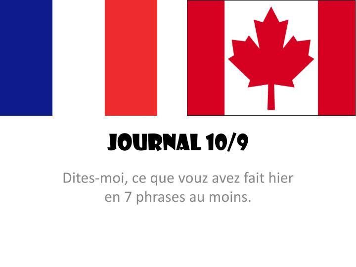 Journal 10/9